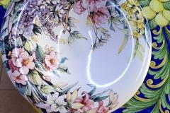 piatto 60 cm fiori